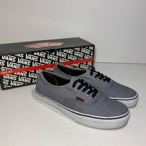 Vans Authentic Pinstrip Gray with box